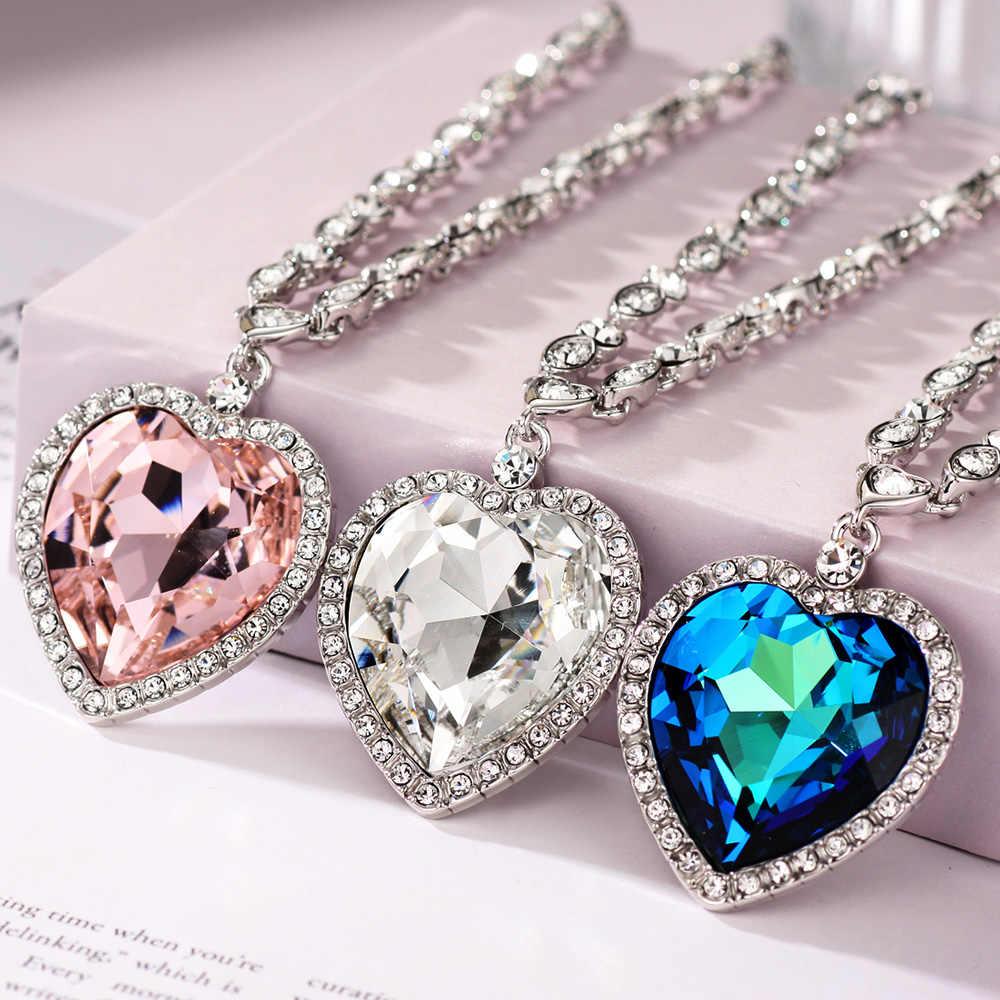 Neoglory ハート愛マキシ自由奔放に生きるチョーカーネックレス & ペンダント女性のファッション結晶と Jewelry2020Embellished から