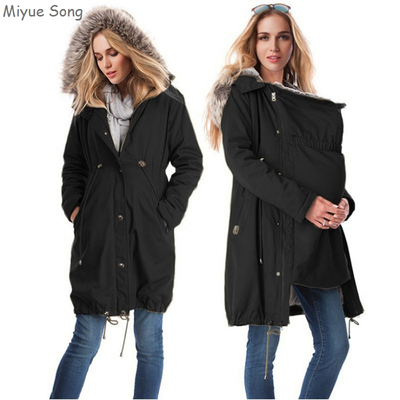 Casual Maternity Coats Jacket Kangaroo Spring Autumn Pregnancy Hoody Long Sleeve Outerwear For Pregnant Women With Baby Carrier