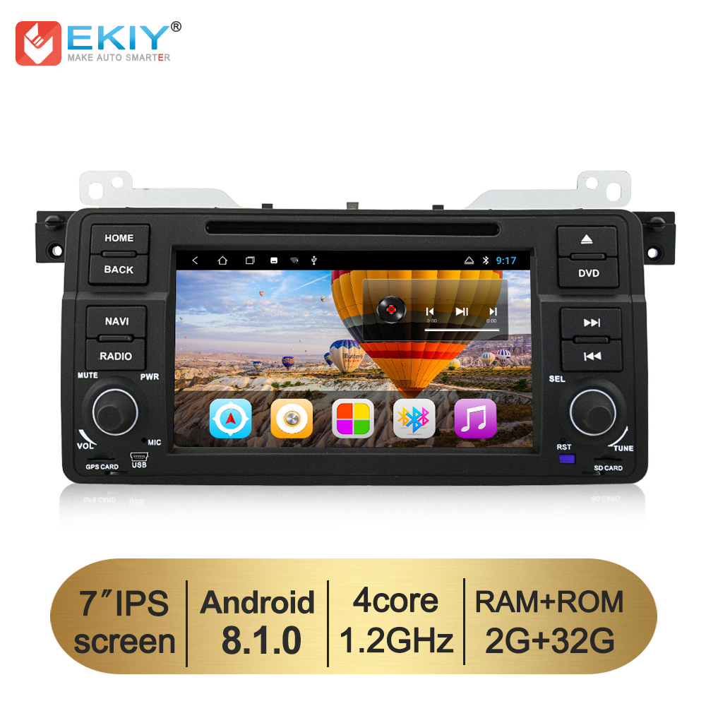 EKIY 7'' IPS <font><b>Android</b></font> <font><b>8.1</b></font> Car DVD Multimedia Player Stereo <font><b>AutoRadio</b></font> For BMW E46 M3 GPS Navigation Wifi Steering Wheel Canbus image