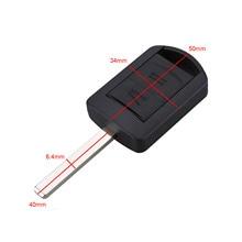 цена на 2 Buttons Auto Remote Key Case Fob Cover Uncut Blade For Opel Vauxhall Corsa Agila Meriva Combo Replacement Car Key Shell
