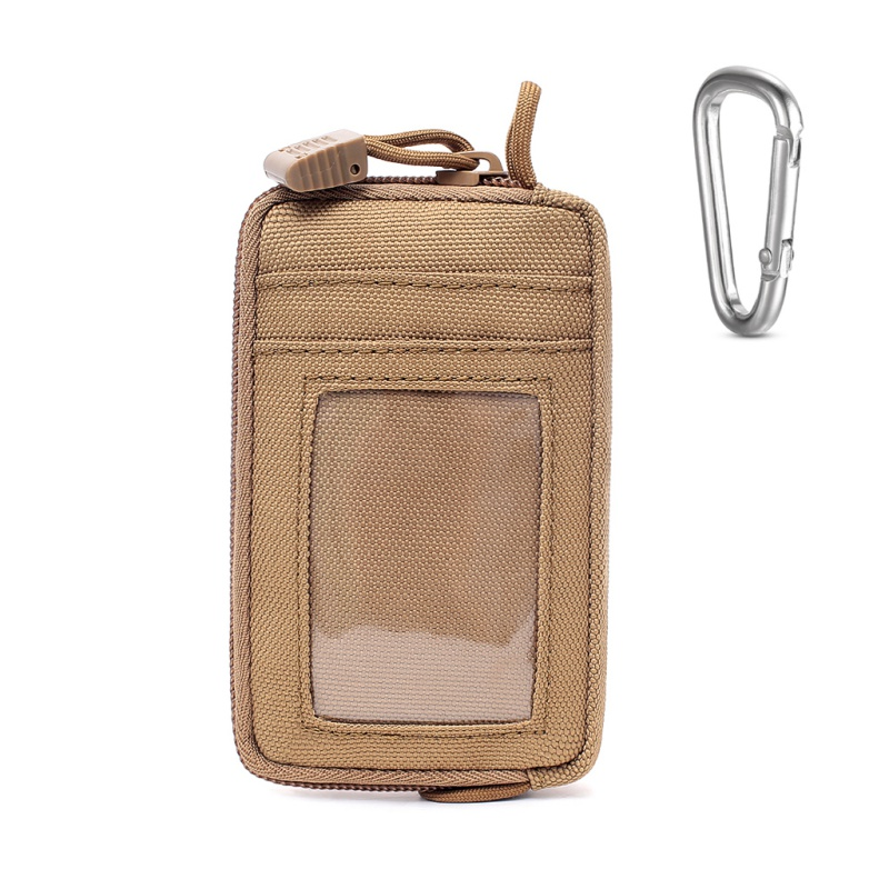 Waterproof EDC Pouch Tactical Key Change Purse Wallet Travel Kit Coin Purse With Card Slots Pack Zippers Waist Bag Sportswear image