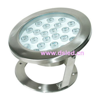 Stainless steel,IP68,high power,24W outdoor LED spotlight,LED pool light,24V DC,DS-10-45,good quality,2-year warranty