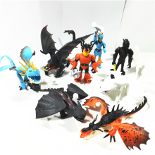 купить 8pcs Dragon 3 Toothless Cartoon PVC Figures Action Figure Toys Kids Collection Ornaments Kids Xmas Gift по цене 829.12 рублей