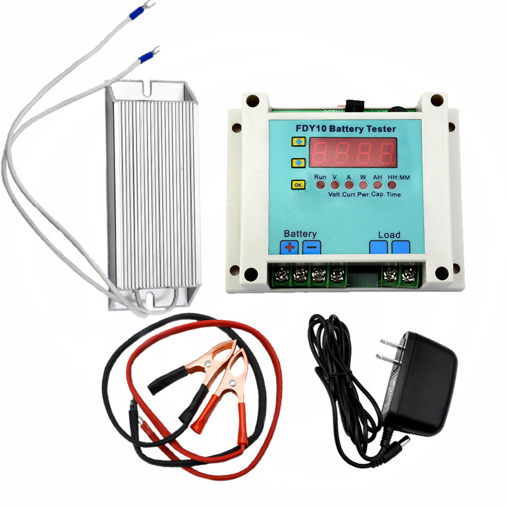 FDY10-S Battery Capacity Tester Detect Battery Voltage 1V-20V Discharge Current 0.1A-10A Measure Ni-Cd/Li-Ion/Pb/Ni-Mh/Ag-Zn ebc a40l high current battery capacity tester battery line graph battery tester battery testing 20acharge 40a discharge