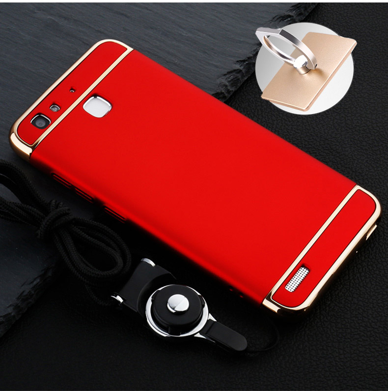 Gold Red Removable 3 in 1 Hard Plastic Case For Huawei GR3 PC Plating Matte Cover For Huawei GR3/ huawei enjoy 5s case DIYABEI
