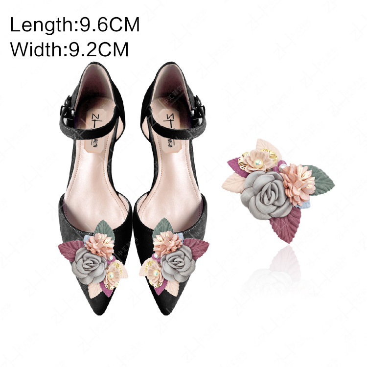 1pcs Flowers Bridal Wedding Party Shoes Accessories High Heels Shoes DIY Manual Pearl boots Shoe Decorations Shoe flower in Shoe Decorations from Shoes