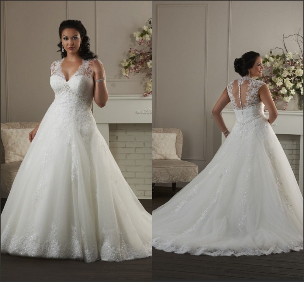 b73078d978e Organza Plus Size Wedding Dress 2015 Vesido De Casamento Ivory Bridal Gown  Cap Sleeve Dresses For Bride Custom Made