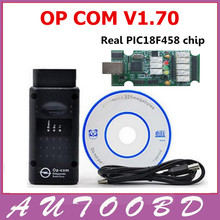 20 шт./лот DHL Бесплатно V1.70 прошивки + качество OP-COM OPCOM Для Opel Диагностический инструмент OP COM с реальными pic18f458 может быть обновления флэш-памяти