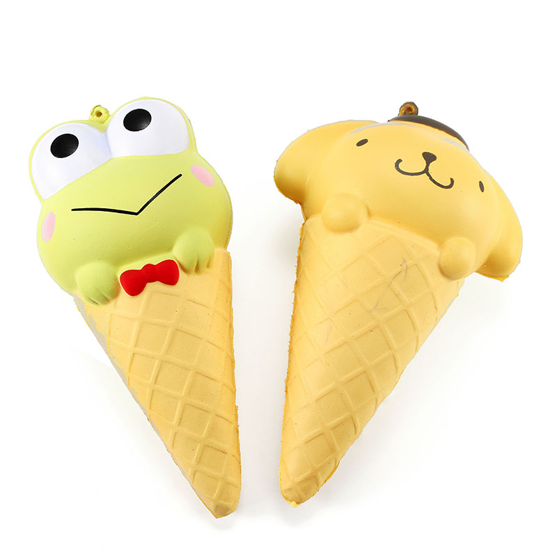 Ice Cream Cone Cartoon Pudding Puppy Cute Collection Gift Decoration Soft Toy Relief Stress Children