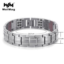 Модные мужские ювелирные изделия welmag лечебные магнитные браслеты