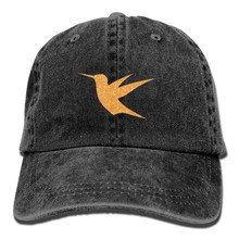 82898ce4154 Gold Glitter Hummingbird Vintage Washed Dyed Cotton Twill Low Profile  Adjustable Baseball Cap Black-in Baseball Caps from Apparel Accessories on  ...