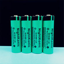 12 PCS/LOT  AA battery 1.2V NI-MH Rechargeable Battery green Nightkonic