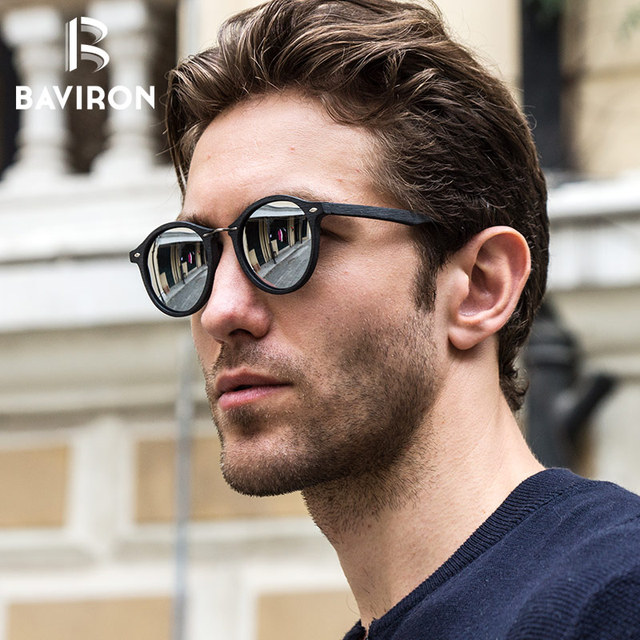 5bed1da962e BAVIRON 2018 New Similar Wood Acetate Sunglasses Retro Plate Sun Glasses  Unisex Polarized Fashion Single Bridge
