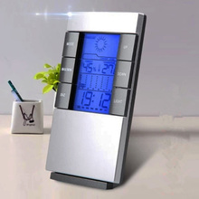 Cheapest prices 4in1 LCD Digital Display weather forecast Clock Hygrometer Thermometer Electronic Weather Monitoring Station Calendar Alarm