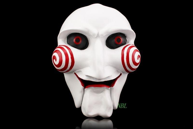 Резня бензопилой Jigsaw Кукольный Маска Жуткий Фильм Пила Темы Анфас Смолы Маски Halloween Masquerade Партия Косплей Реквизит