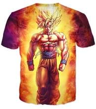 Drop shipping Anime Dragon Ball Z Super Saiyan T-Shirt Harajuku 3d t shirts Women/Men Summer Style tops tee plus size S-3XL
