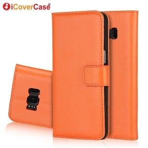 Image 2 - Etui portefeuille en cuir pour Samsung Galaxy S8 Etui Funda Coque de luxe Capa Coque arrière pour Samsung S8 Plus étuis de téléphone avec fente pour carte