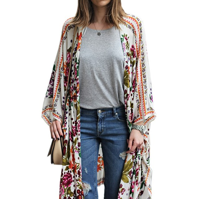 Aliexpress.com : Buy Boho NEW Womens Floral Print Kimono Casual ...