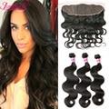 3 Pcs Full Frontal Lace Closure 13x4 Brazilian Hair Weave Bundles 7A Brazilian Lace Frontal Closure With Bundles Body Wave