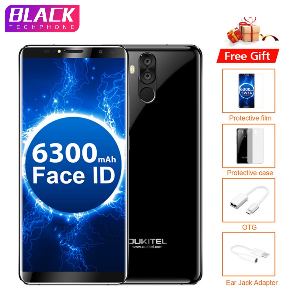 Oukitel K6 Visage ID 6 pouces 6 GB 64 GB 6300 mAh Charge Rapide NFC Smartphone