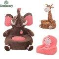 Cadeira do Saco de Feijão do bebê Cadeira de Alimentação do Elefante Crianças Assento Do Sofá para As Crianças Dormindo Cama Ninho Do Bebê Sopro Cadeira Beanbag Plush brinquedos