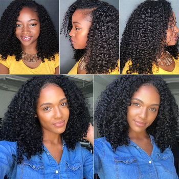 Yvonne 3C 4A Malaysian Curly Virgin Hair Bundles 1/3/4 Bundles Human Hair Weave Natural Color 3