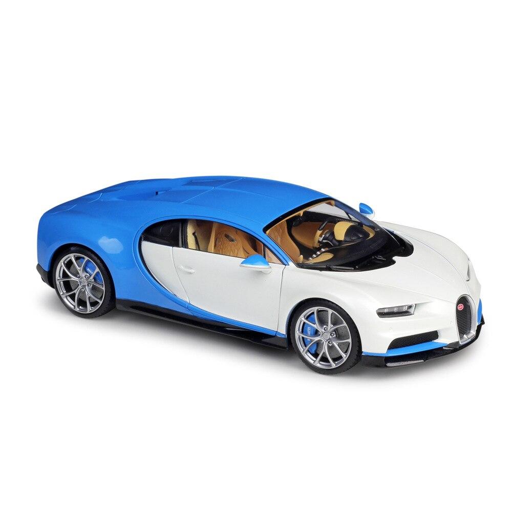 Welly GTA 1:18 Échelle Diecast Metal Modèle Super Voiture de Sport Jouet Pour Bugatti Chiron 2016 avec Boîte D'origine Cadeau Collection pour homme