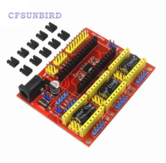 CNC Shield V4 Engraving Machine / 3D Printer / A4988 Driver Expansion Board for arduino Diy Kit new mini e14 led bulb light 9w 7w led bulb 3w 5w 220v led lamp e14 cool warm white lampara led candle spotlight lampada led