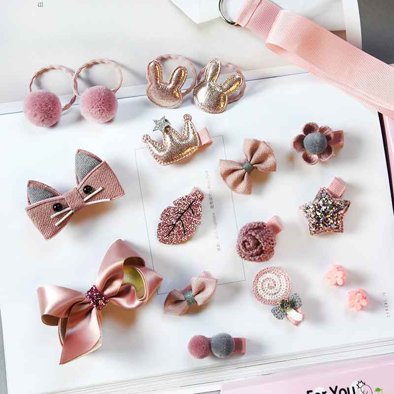 6/18/24Pcs Baby Hair Clips Baby Bows Knot Barrettes Crown Rabbit Flower Hairpins Kids Girls Lacos Gift Baby Hair Accessories
