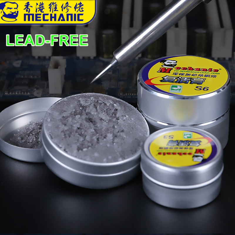 MECHANIC Lead-Free Soldering Tip Refresher Resurrection Cream For Oxide Solder Tip Welding Sting Clean Paste BGA Soldering Tools