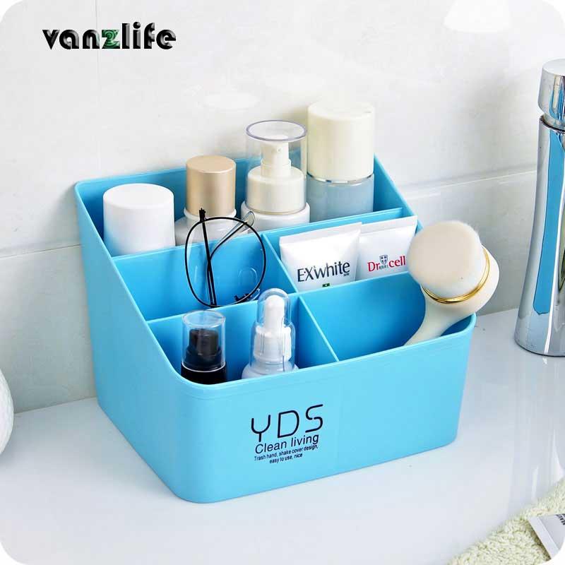 vanzlife Multifunctional plastic remote controller desktop multi room cosmetic storage box
