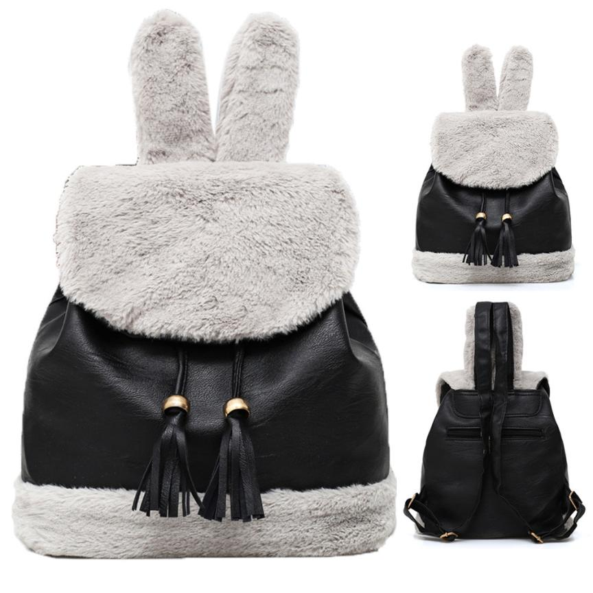 MOLAVE Backpacks new high quality Velour Hairy fashion School Student Plush Backpack Girls Cute backpack women mar23