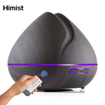 500ml Remote Control Air Aroma Ultrasonic Humidifier With Color LED Lights Electric Aromatherapy Essential Oil Diffuser for home funho 500ml air humidifier essential oil diffuser ultrasonic aromatherapy mist maker 7 color change led night light for home