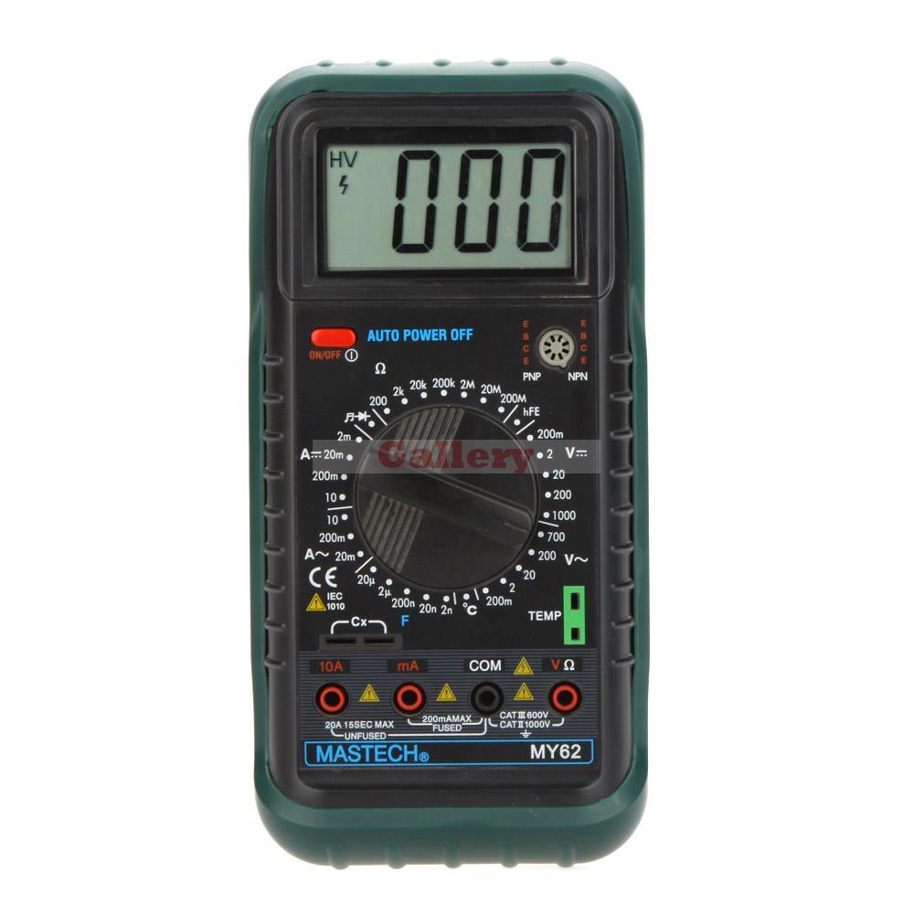 MY62 Handheld Digital Multimeter DMM w/Temperature Capacitance mastech my62 handheld digital multimeter dmm w temperature capacitance