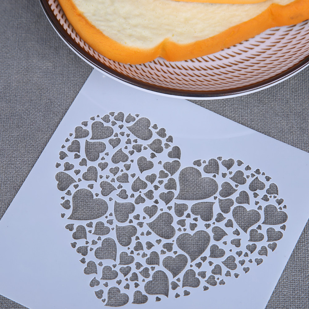 DIY Love Heart Flower Painting Hollow Template Stencils For Painting Scrapbooking Photo Album Paper Card Crafts Spray Decor Gift