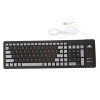 Silicone Folding Keyboard Foldable Keyboard Waterproof USB Wired Keyboard 103 Keys Silicone Soft Keyboard