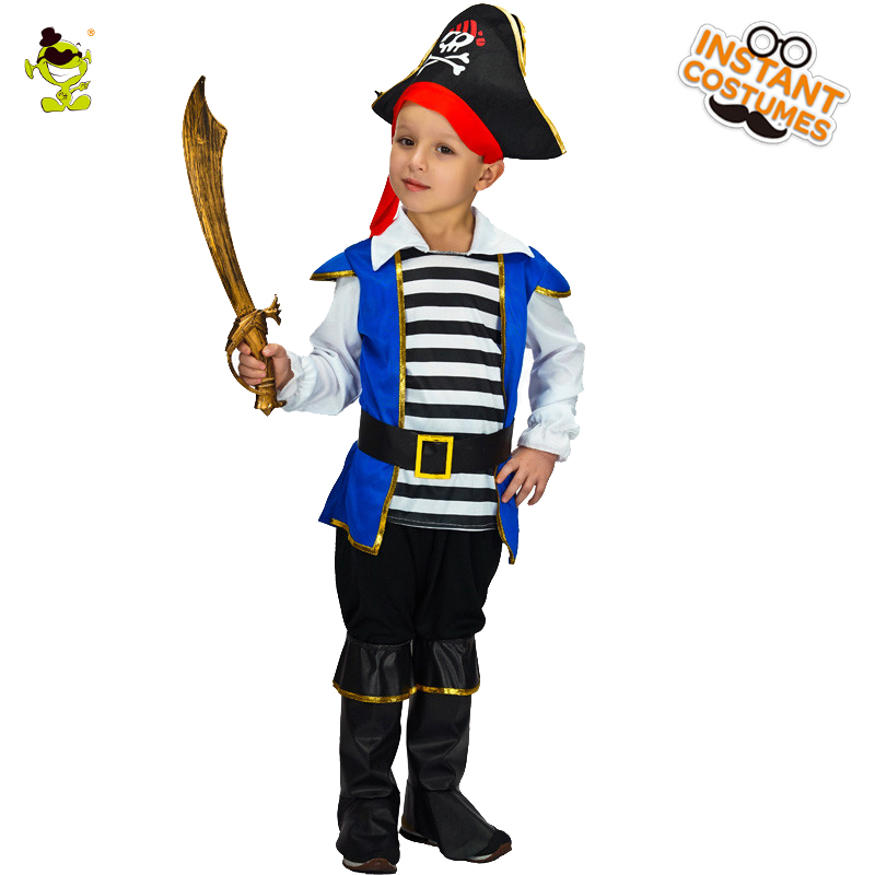 Garçons Deluxe Pirate Costumes Halloween Dominateur Boucanier et Viking Imitation Vêtements Enfants Noble Prince Cosplay Tenues