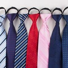 TagerWilen 8 см галстук для мужчин на молнии Тонкий узкий ленивый галстук легко тянет веревку галстук корейский стиль полосатый горошек свадебный T-113