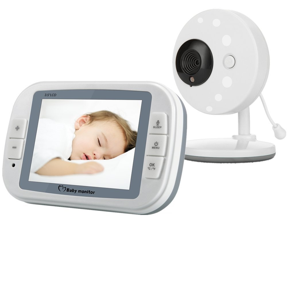 babykam niania elektroniczna baby monitor 3.5 inch IR Night Vision Temperature Sensor Lullabies Intercom elektroniczna niania