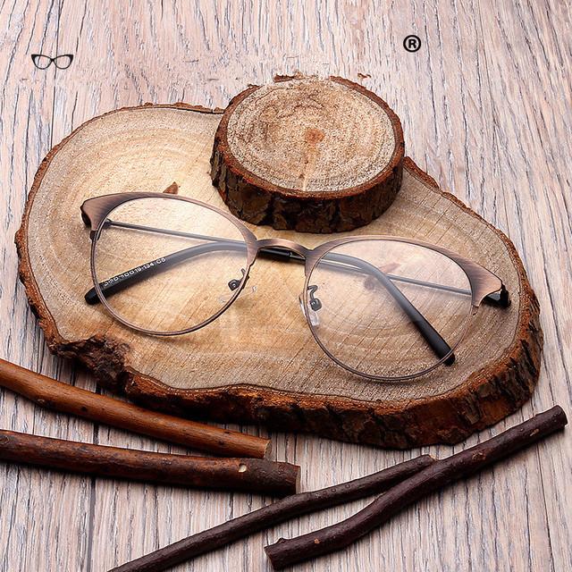 2017 Rodada Óculos Frame Ótico Miopia Armações de Óculos de Design Das Mulheres Do Metal Do Vintage Gafas Oculos de Grau Feminino