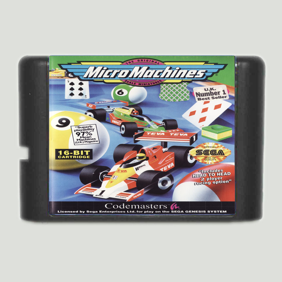 Micro Machines 16 bit SEGA MD Game Card For Sega Mega Drive For Genesis image