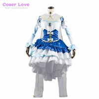 VOCALOID Snow Princess Hatsune Miku Cosplay Costume Halloween Christmas New years party