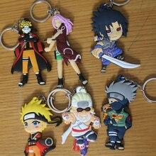 Naruto Action Figure Keychain Toys Japanese Anime Naruto Sasuke Uzumaki Naruto Akatsuki Madara Figurines Collection Toy ASB42