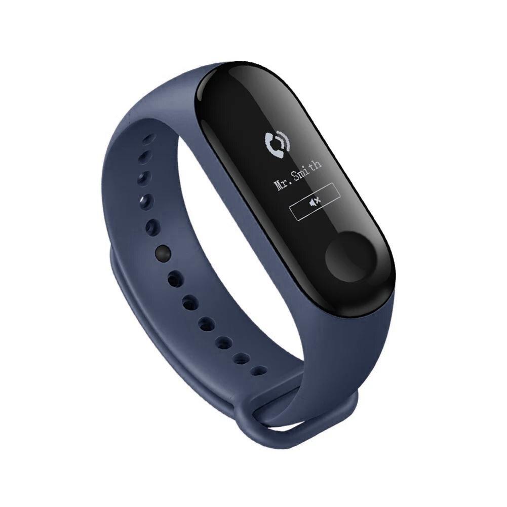Hot Mi bande 3 OLED écran Bracelet intelligent sport Fitness Tracker moniteur de fréquence cardiaque moniteur de sommeil Smartband