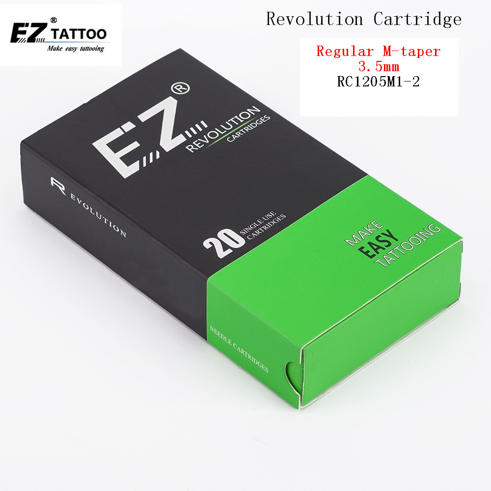 EZ Revolution Tattoo Cartridge Needles Magnum #12 0.35mm  M-taper 3.5MM  RC1205M1-2 RC1207M1-2 RC1215M1-2  20 Pcs /lot