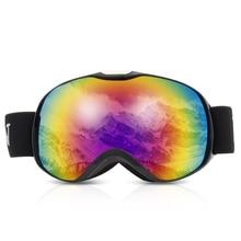 Ski goggles Anti-Fog Spherical Dual Lens Ski Goggles Winter Ski Snow Glasses Skiing Snowboard Eyewear Protection For Children ski goggles snowboard snowmobile goggles with magnet fast lens changing system 100% uv400 protection anti fog spherical goggle