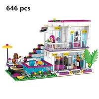 New Lepin 01046 Friends Girl Series Building Blocks Kids Toy Livi S POP Star House Designer