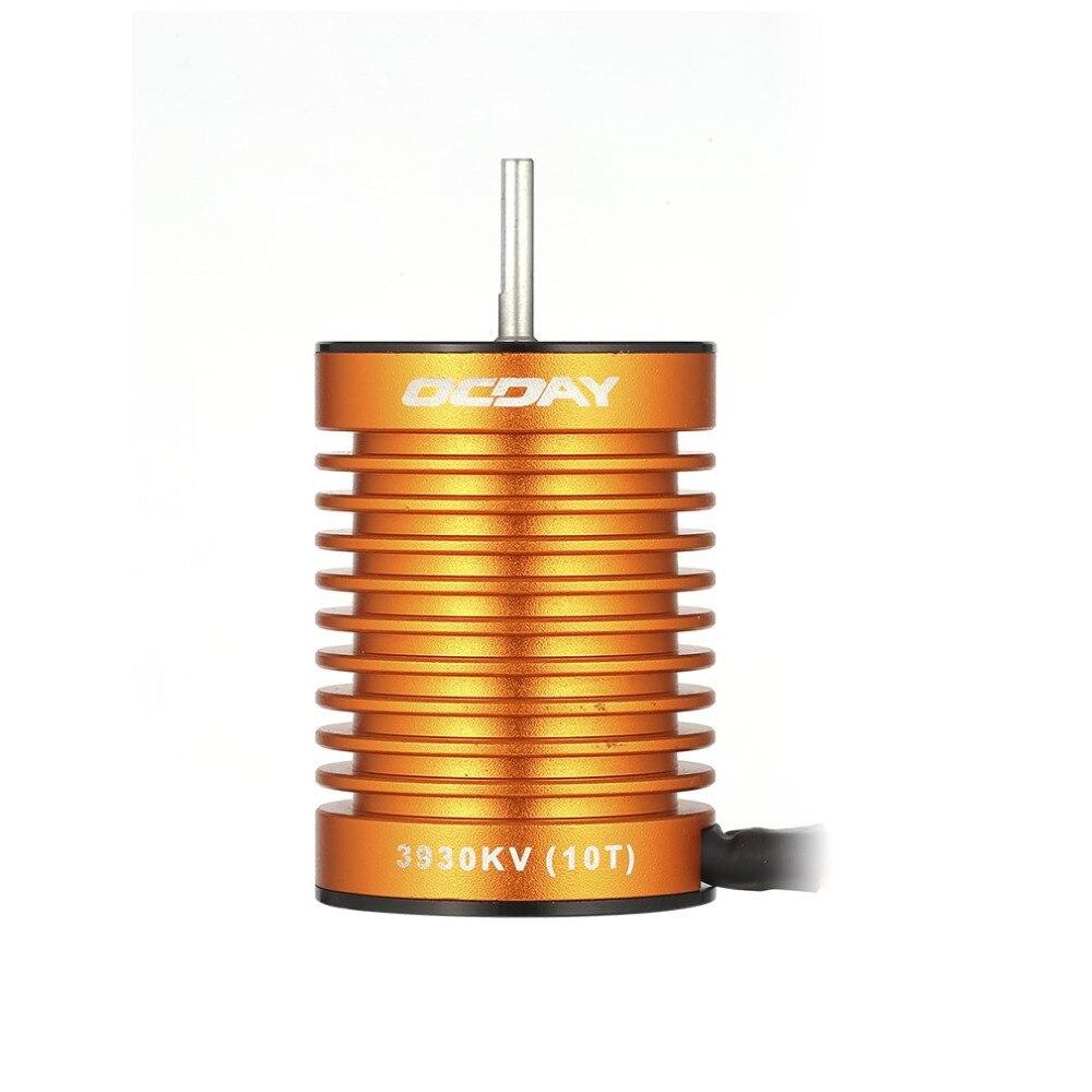 RC Motor 1:10 9T 4370KV 10T 3930KV 4P Sensorless Brushless Motor CNC for 1/10 RC Car