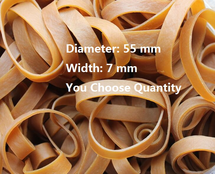 10 20 30 Strong Heavy Industrial Dark Brown Elastic Rubber Band For Packaging Packing Diameter 55mm