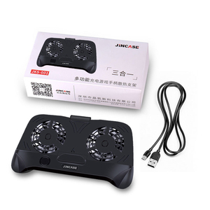 Image 5 - Uchwyt gamepad wentylator telefonu komórkowego podwójne chłodzenie chłodnicy Smartphone 2000mAh Power Bank ventilador para movil